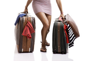 lady with too much baggage