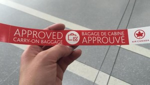 approved carryon bag tag