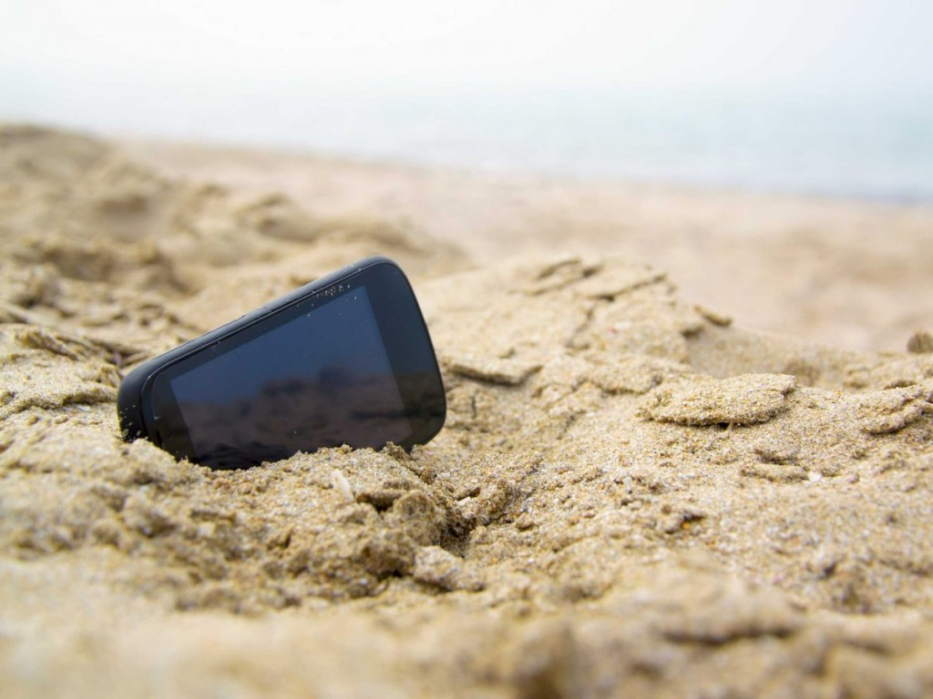 phone-in-sand
