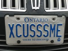 xcusssme licenseplate