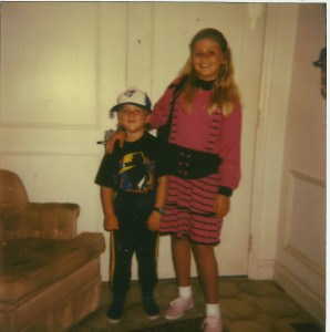 My brother 8 and me 11.